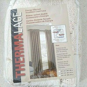 Thermalace Anna Lace Rod Pocket Pole Top Insulated